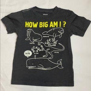 4/$20. CARTER'S Short Sleeve Shirt Size 3T